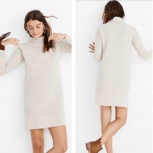 Madewell Merino Wool Mockneck Sweater Dress